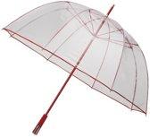 Impliva Koepel - Paraplu - Ø 111 cm - Transparant Rood