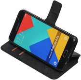 Zwart Samsung Galaxy A7 2016 TPU wallet case booktype hoesje HM Book