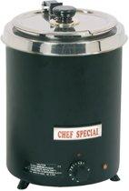 CaterChef soepketel - 5.7 liter, zwart