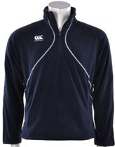 Canterbury Fleecetrui Mercury 1/4 zip, microfleece. non returnable. Blauw - M