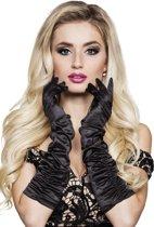 12 stuks: Handschoenen elleboog Hollywood - zwart