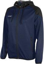 Hummel Authentic Full Zip Hoodie  Trainingsjas - Maat M  - Vrouwen - blauw/zwart