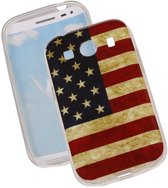 Amerikaanse Vlag TPU Cover Case voor Samsung Galaxy Ace Style G357 Hoesje