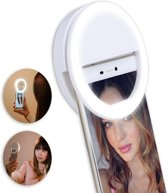 Lumee Style Selfie Ring Light Clip voor telefoons- Wit