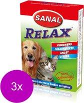 Sanal Relax Hond/Kat - Anti stressmiddel - 3 x 15 stuks