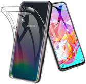 Epicmobile - Samsung Galaxy A70 Transparant silicone hoesje – Back Cover – Clear