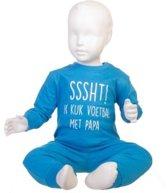 Fun2Wear Pyjama Sssht Ik kijk voetbal met Papa blauw maat 128