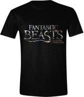 Fantastic Beasts - Logo Mannen T-Shirt - Zwart - L