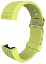 By Qubix Siliconen bandje - Fitbit Charge 2 - Groen - Large