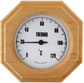 Saunia - sauna thermometer - zeshoek model - hout