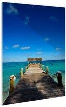 Steiger op de Bahamas Glas 20x30 cm - klein - Foto print op Glas (Plexiglas wanddecoratie)