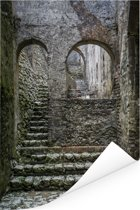 Mooie trap in het Citadelle Laferrière fort Poster 40x60 cm - Foto print op Poster (wanddecoratie woonkamer / slaapkamer)
