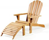 Teak Bear chair + footrest
