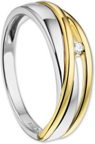 The Jewelry Collection Ring Diamant 0.03ct H Si - Bicolor Goud