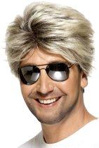 Korte blonde pruik voor mannen - Verkleedpruik