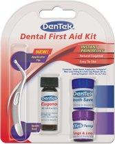 Dentek Gebits EHBO Kit. Met noodvulling, tandbewaarbox en anti- kiespijn vloeistof. Ook voor verloren kronen, vullingen, kiespijn en gaatjes