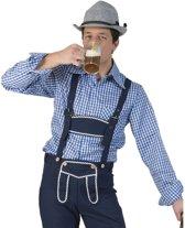 Oktoberfest - Blauw/wit geruit tiroler verkleed overhemd voor heren 48-50 (S/M)