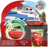 Disney-Cars-Ontbijtset;-3-delig-blauw-maat-One-size