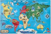 Melissa & Doug - World Map - Vloerpuzzel