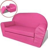 vidaXL Loungestoel voor kinderen uitklapbaar roze
