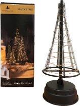 Santa's Tree zwart/koper met 85 LED lampjes - L 42,5cm