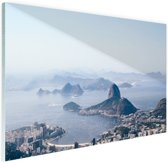 FotoCadeau.nl - Bergen rondom Rio de Janeiro Glas 90x60 cm - Foto print op Glas (Plexiglas wanddecoratie)