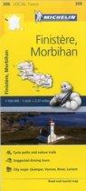 Finistere, Morbihan - Michelin Local Map 308