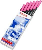 edding-4200 porselein brushpen roze  1Stuks 1-4 milimeter /  4-4200009