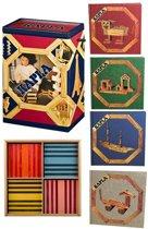 KAPLA Blank & Kleur + Voorbeeldboek Deel 1-4  - 200 + 100 Plankjes
