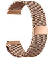 Metalen armband voor Fitbit Blaze frame magneet slot - Kleur - Rosé-goud, Maat - L