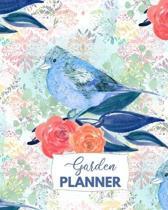 Garden Planner: Journal For Gardening Planning With Blue Bird