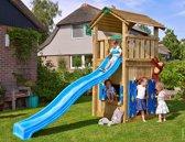 Jungle Gym - Cottage Playhouse 145 - Speelhuis voor Buiten - Met Glijbaan - Blauw