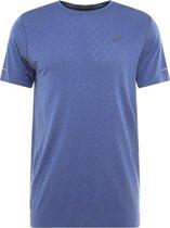 Asics Gel-Cool SS Tee  2011A314-402, Mannen, Blauw, T-shirt maat: L EU