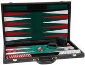 """Backgammon zwart 18"""" ingelegd vilt"""