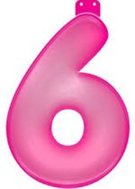 Opblaasbaar Cijfer 6 Roze