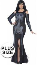Halloween Grote maten skelet jurk voor dames 52-54 (2xl)