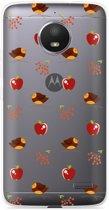 Motorola Moto E4 Hoesje Apples and Birds