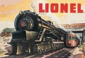 Lionel Trains, Metalen wandbord 31.5x41.5cm