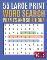 55 Large Print Word Search Puzzles And Solutions
