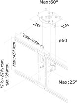 Lcd/Plasma Tv Ceiling Assembly