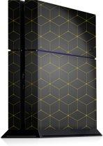 Playstation 4 Console Sticker Hexagon Geel-PS4 Skin