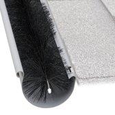 relaxdays dakgoot egel - 12 cm - beschermer - borstel - 4 m - kunststof - tegen blad