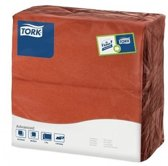 Tork tissue servet 39x39cm 2-laags 1/8-vouw terracotta 12x150