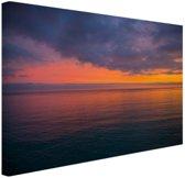 Zonsopkomst over de Middellandse Zee Canvas 80x60 cm - Foto print op Canvas schilderij (Wanddecoratie woonkamer / slaapkamer)