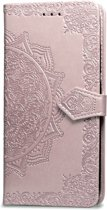 Luxe PU leren bookcase voor Apple iPhone 7   iPhone 8   Leren Portemonnee Hoesje   Lederen Wallet Case TPU   Book Case   Flip Cover   Klap - 360 beschermend Telefoonhoesje   Oud Roze