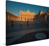 Het Sint-Pietersplein in Rome Canvas 30x20 cm - klein - Foto print op Canvas schilderij (Wanddecoratie woonkamer / slaapkamer)
