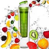 #DoYourFitness - Fruitwater fles - »FruitBottle« - Fruit infuser voor fruitpunches / groente spritzers - 800ml - groen
