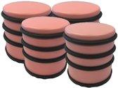 4x Lichtroze rond deurstoppers met rubberen bescherming - 7 x 7.5 cm - 1 kg - roze deurstop