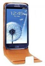 Swiss Charger Flip Case / Cover van wit PU leer voor Samsung Galaxy S3