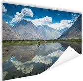 Mooi landschap in Leh Himalaya Poster 150x75 cm - Foto print op Poster (wanddecoratie woonkamer / slaapkamer) / Natuur Poster